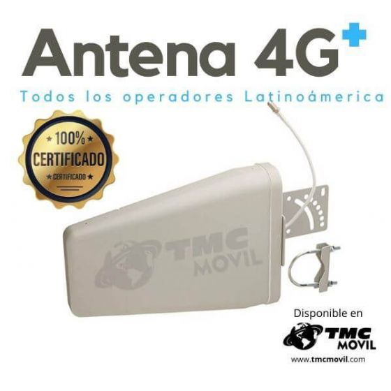 Antena Logarítmica Periódica CuatriBand™ - 700-2700MHz - Compatible Módem de Internet 4G - TMC MÓVIL®