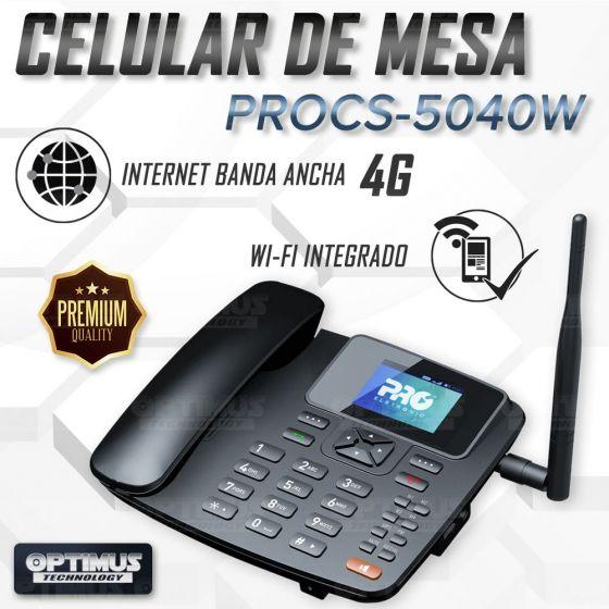 Kit Rural Antena Amplificadora de señal Road Minipro 60 Db Y Celular De Mesa Teléfono ProElectronic Procs-5040w