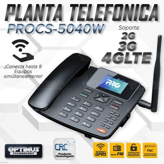 Teléfono Celular De Mesa Pro Electronics PROCS-5040W Wi-Fi Internet