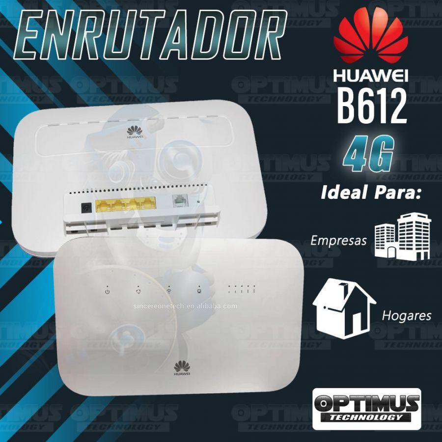 KIT Antena Amplificadora De Señal Multibanda PRO 65 Db Con Enrutador Huawei B612