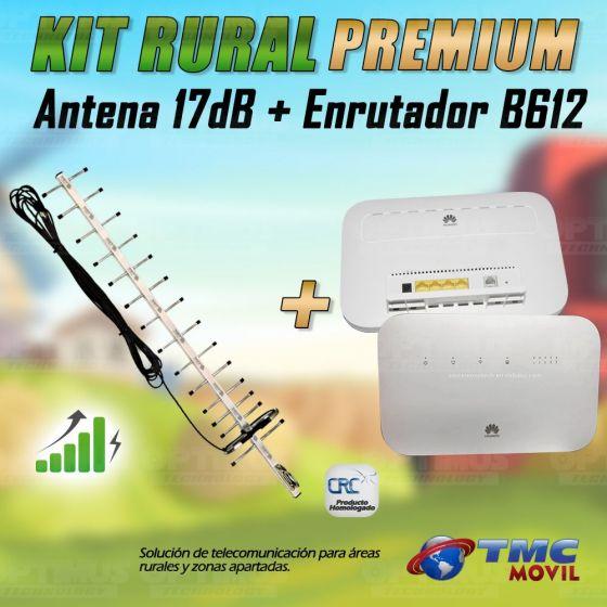 KIT Antena Amplificadora De Señal Yagi 17 Db Con Enrutador Huawei B612