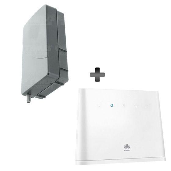KIT Antena Amplificadora De Señal WeBoost Panel Grey Con Enrutador Huawei B310s-518