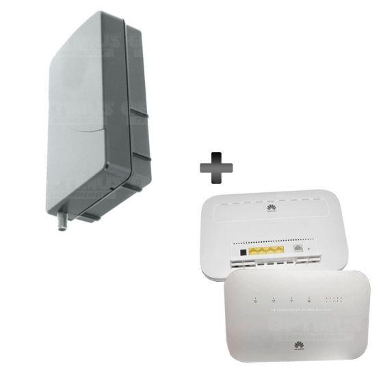 KIT Antena Amplificadora De Señal WeBoost Panel Grey Con Enrutador Huawei B612