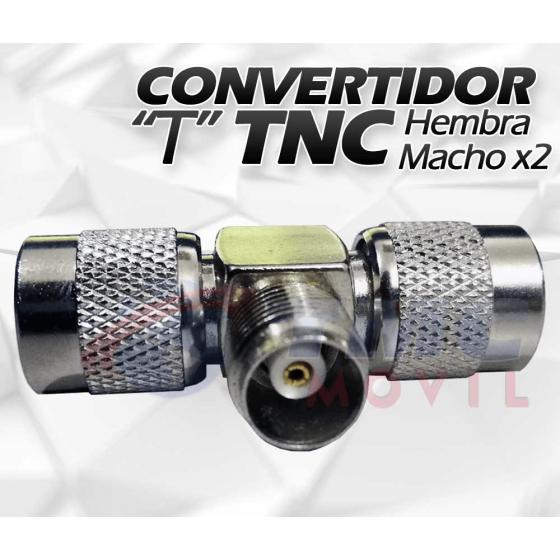"""Conector """"T"""" TNC Hembra Macho x2"""