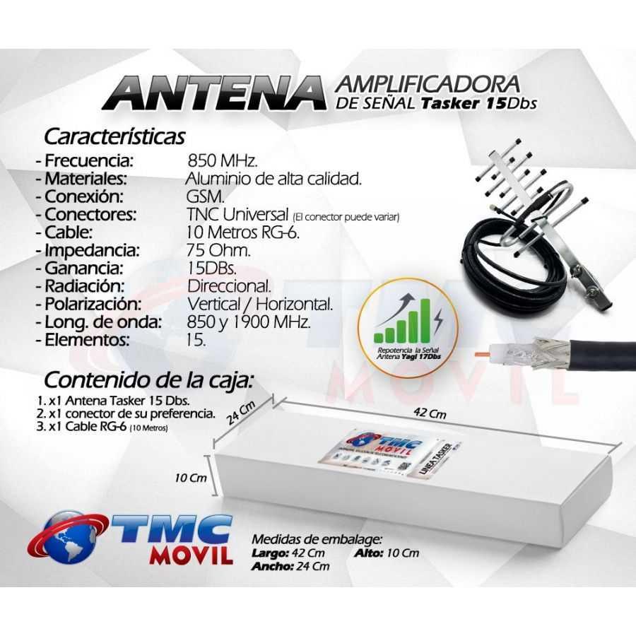 Especificaciones técnicas - Antena TasKer-15™ 15dB