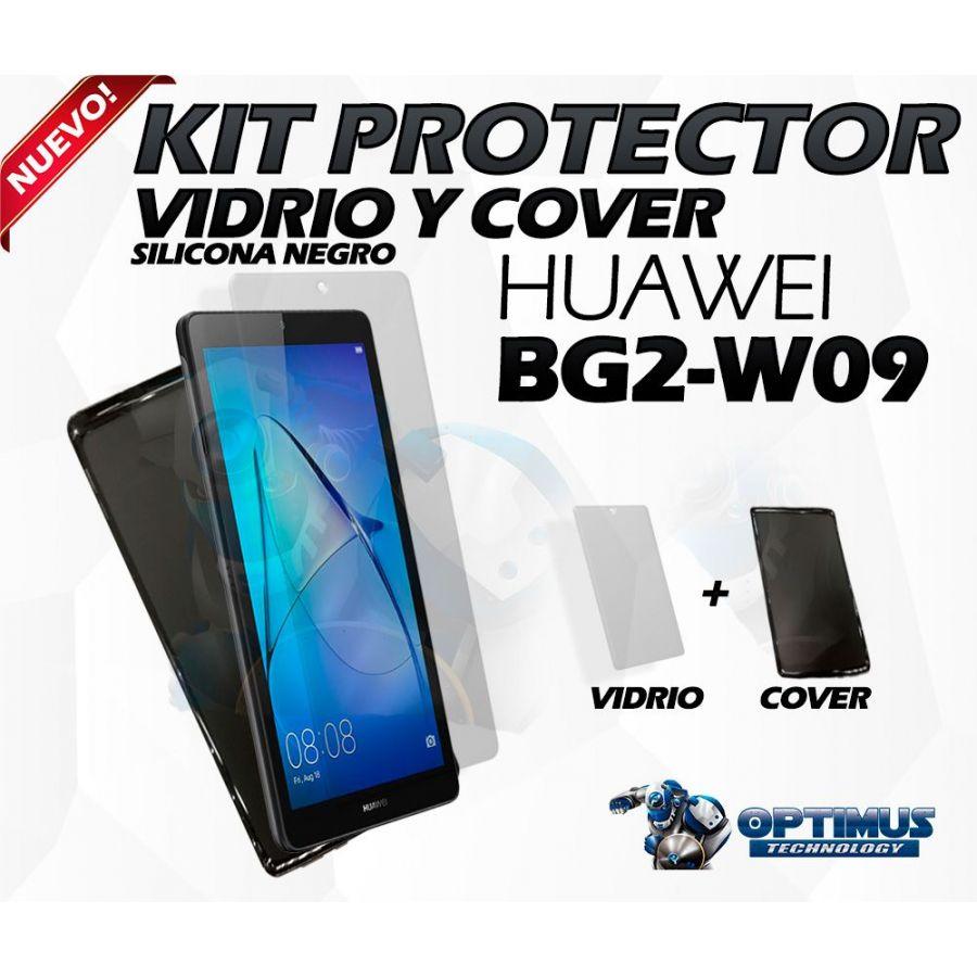 Kit Vidrio Templado Y Cover Huawei T3 Bg2-w09