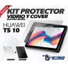 Vidrio Y Estuche Silicona Tablet Mediapad Huawei T5-10