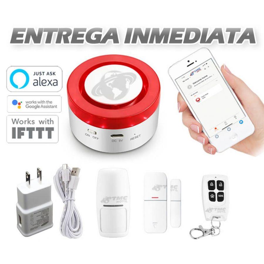 Alarma inteligente con WiFi Compatible con Amazon Alexa y Google Home - Sirena de 90dB integrada
