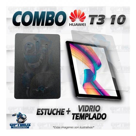 Combo KIT Vidrio Templado Y Forro Tablet Huawei T3-10 9.6 Pulgadas
