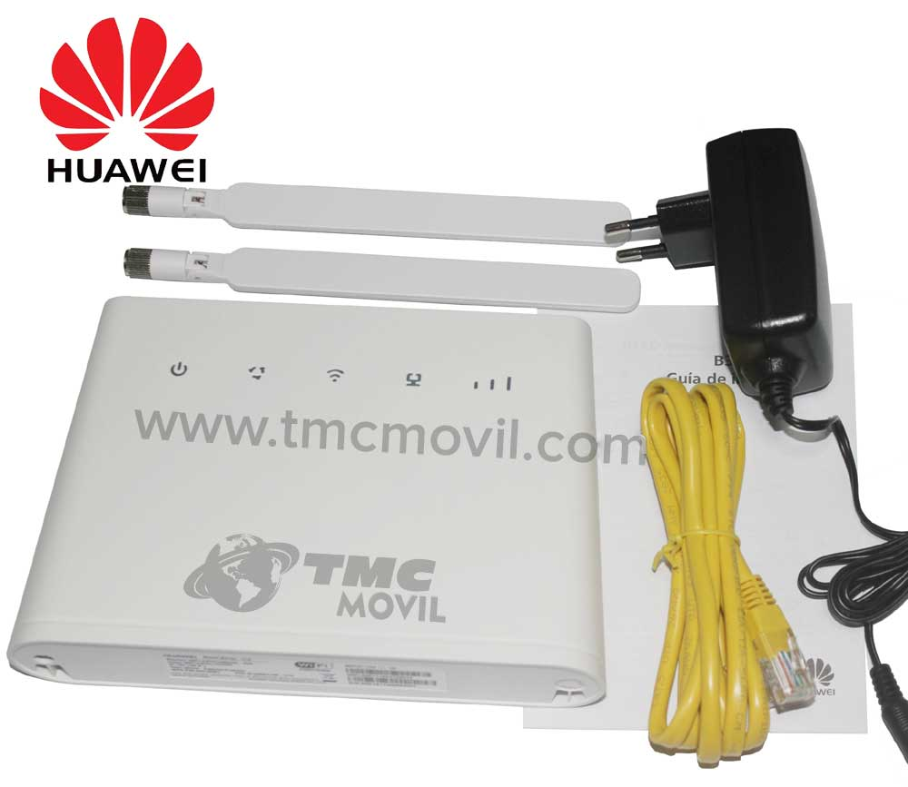 KIT de Enrutador Huawei B310s-518 - Cargador - Pascor RJ45 - Manual