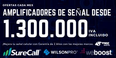 Amplificadores de señal Wilson Electronics, Surecall, weBoost. Desde $1.300.000
