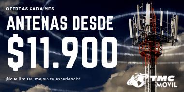 ¡Antenas de TMC Movil desde $11.900 IVA Incluido!
